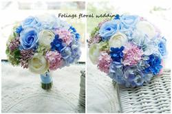 藍色系列_絲花球32