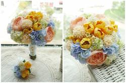 橙黃及香檳色系列_絲花球59