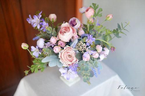 """羅馬盆花擺設 - 法式絲花設計 (15"""")"""