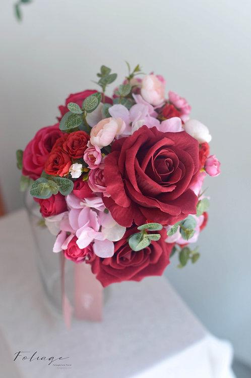 """玫瑰繡球絲花球 - 酒紅 / Pink (6"""")"""