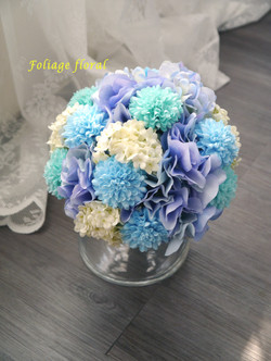 藍色系列_絲花球15
