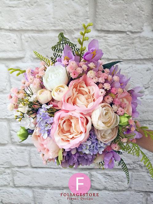 牡丹絲花球 - 紫 x 橙 x 香檳粉系列
