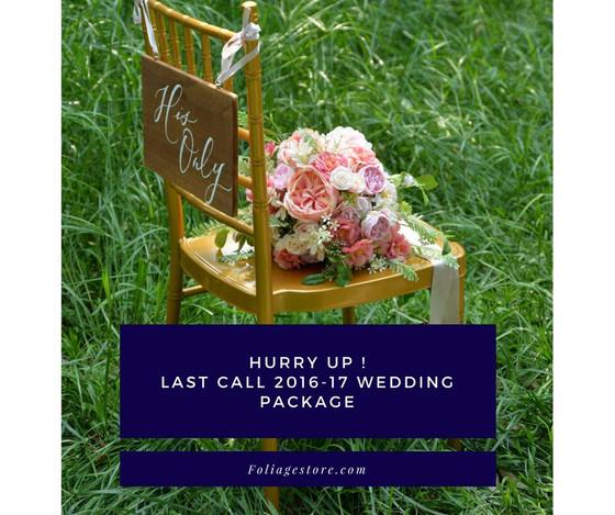 [ FINAL CALL📣📣] 想留住2016-17年婚禮花品優惠價格