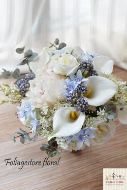 藍色系列_絲花球09