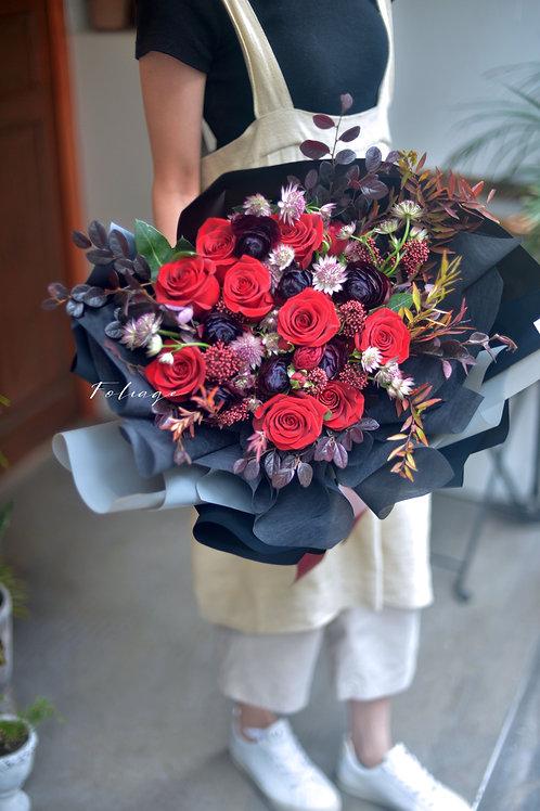 荷蘭直送 - 鮮花花禮 (小牡丹,玫瑰) 7天前預訂