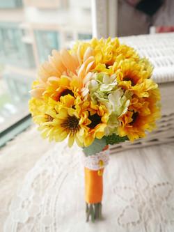 橙黃及香檳色系列_絲花球42