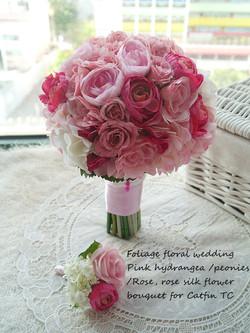 粉色系列_絲花球058