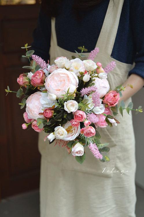 牡丹庭園玫瑰絲花球 - Blush Pink 系列