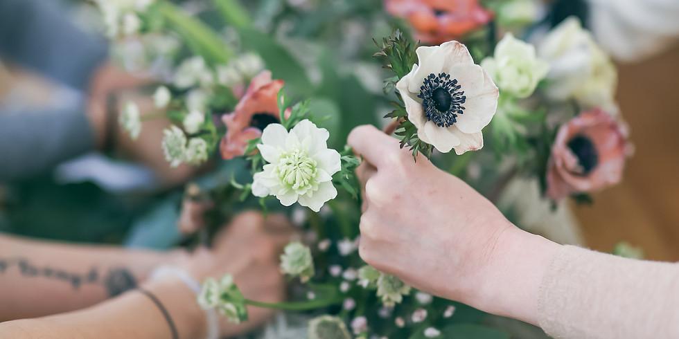 系列花課 - 花藝師日常必修  花店基礎(手綁與插作技巧), 花藝理念 及婚禮花藝