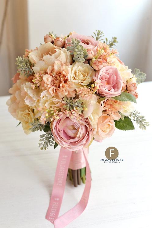 牡丹玫瑰絲花球 - 象牙 X 復古系列