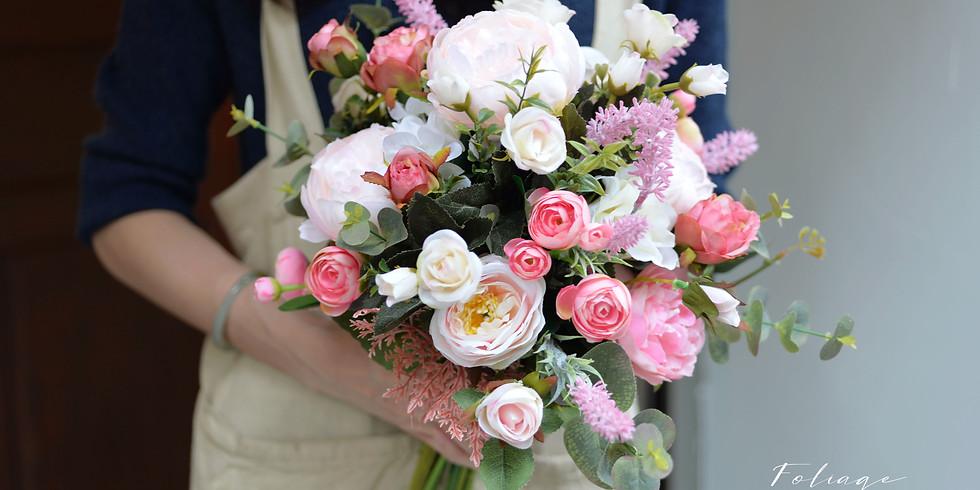 "01. Artificial Wedding Bouquet 新娘花球班 (9""Size)"