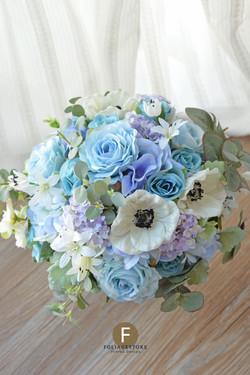藍色系列_絲花球45