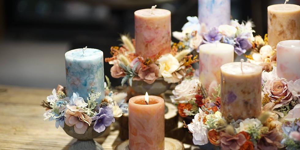 "06. Florio蠟燭 x Candlering花圈工作坊 ""Foliagestore x Thistle Candle"