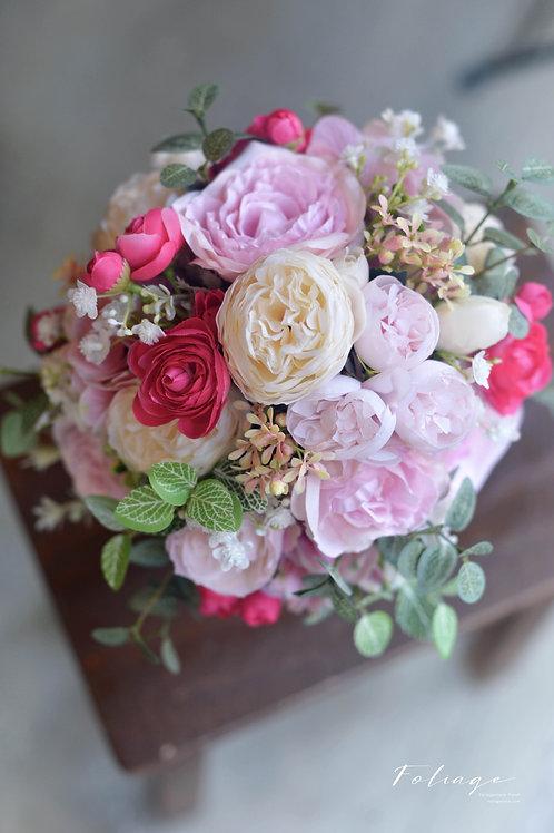 """牡丹繡球絲花球 - Fuchsia / Pink (8"""")"""