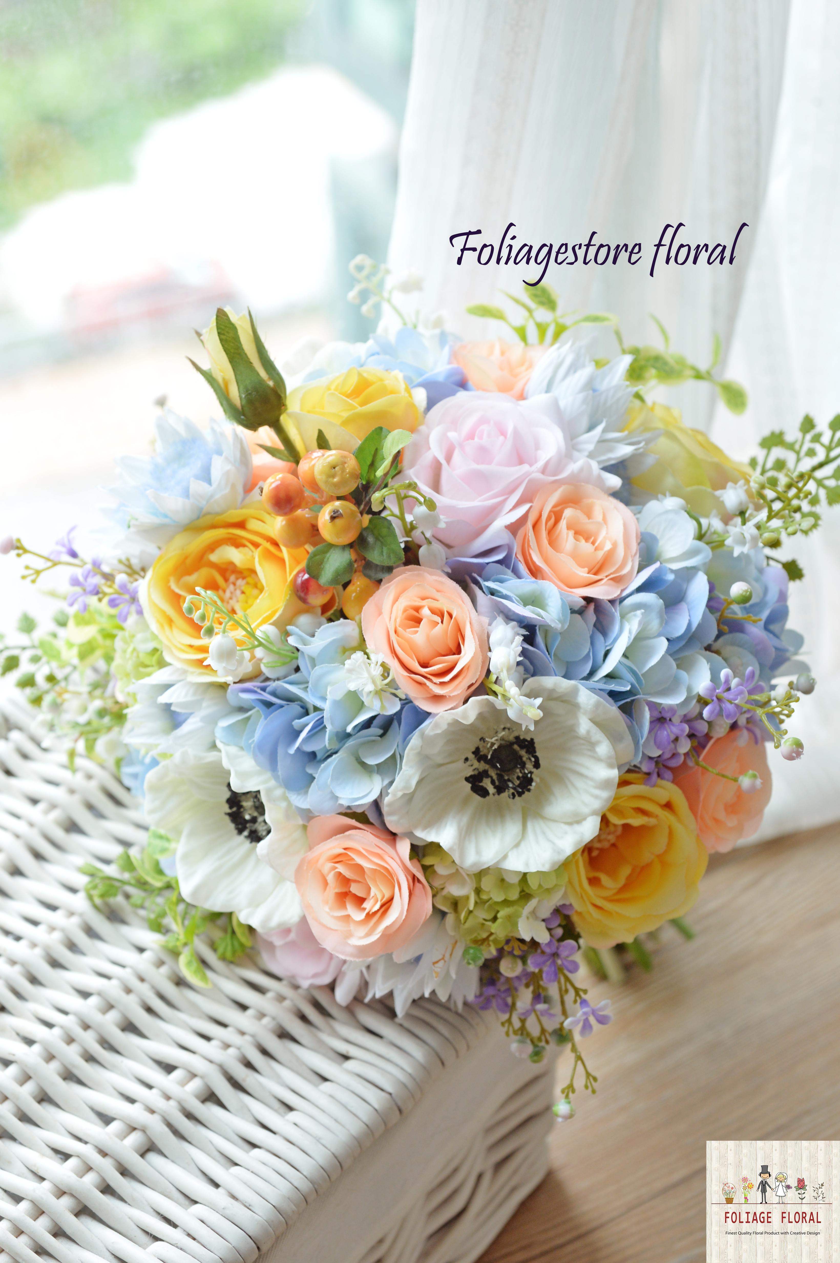 藍色系列_絲花球11