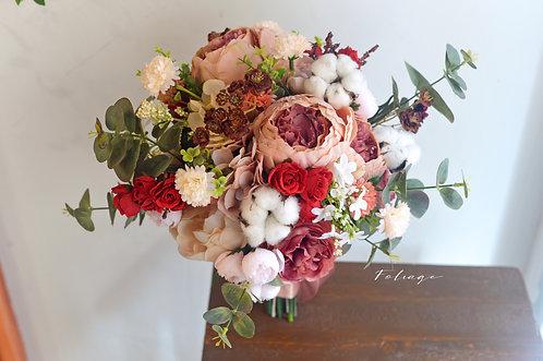 """牡丹庭園玫瑰絲花球 - Brown 9"""""""