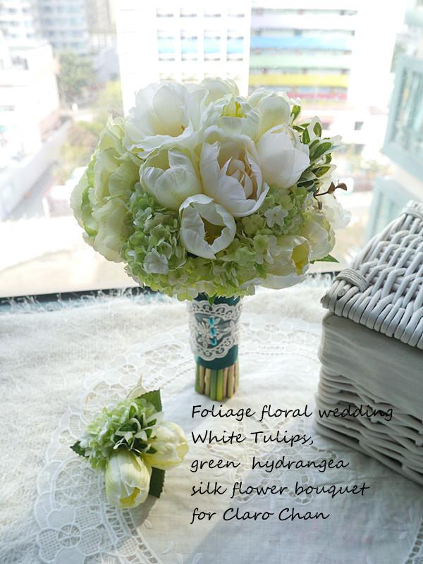 白綠色系列_絲花球18
