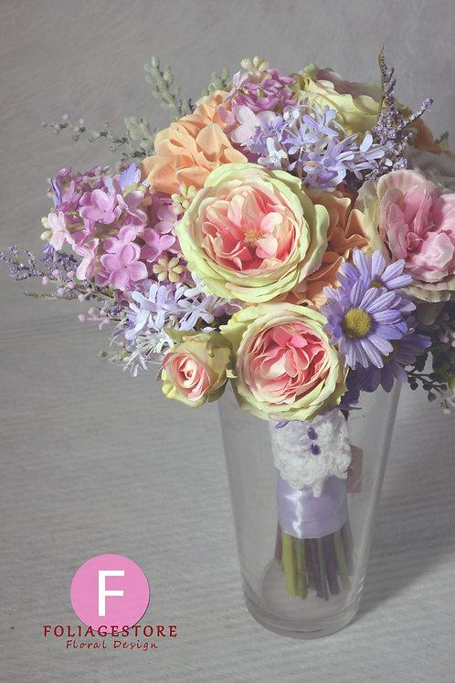 庭園玫瑰絲花球 - 紫 x 橙 x 香檳粉系列