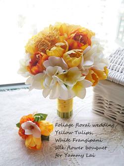 橙黃及香檳色系列_絲花球37