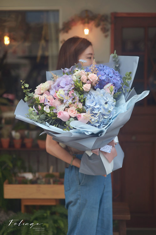 荷蘭直送 - 鮮花花束 (繡球花) 6天內預訂