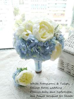 藍色系列_絲花球22