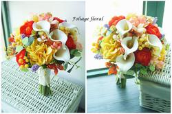 橙黃及香檳色系列_絲花球84