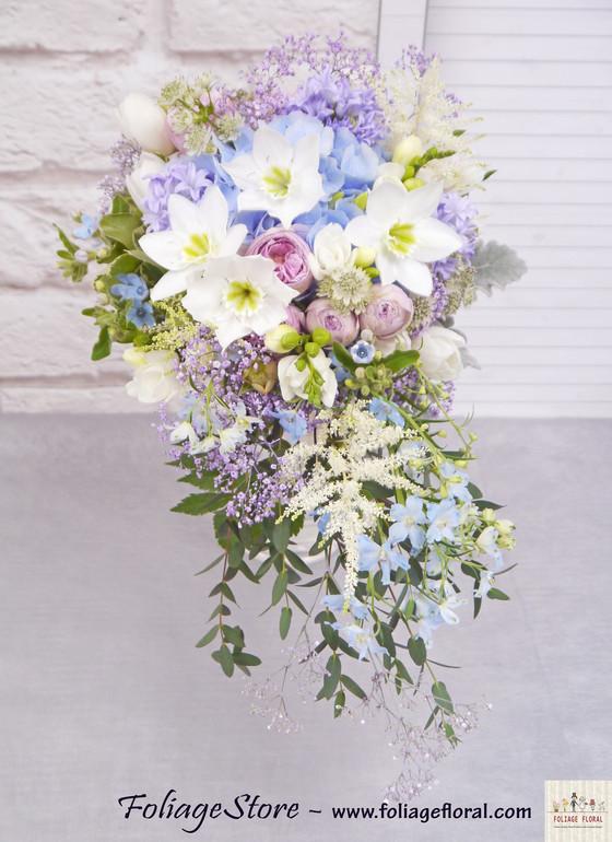 大拖尾 - WEDDING 鮮花球