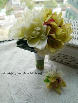 白綠色系列_絲花球16