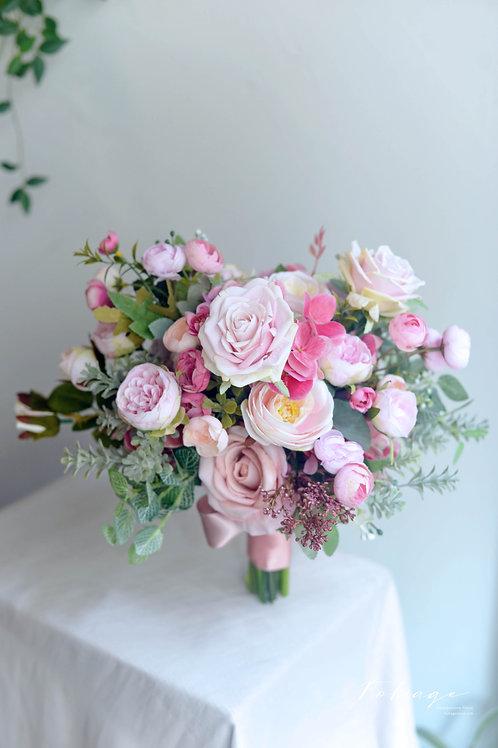 牡丹庭園玫瑰絲花球 - Dusty Pink 系列