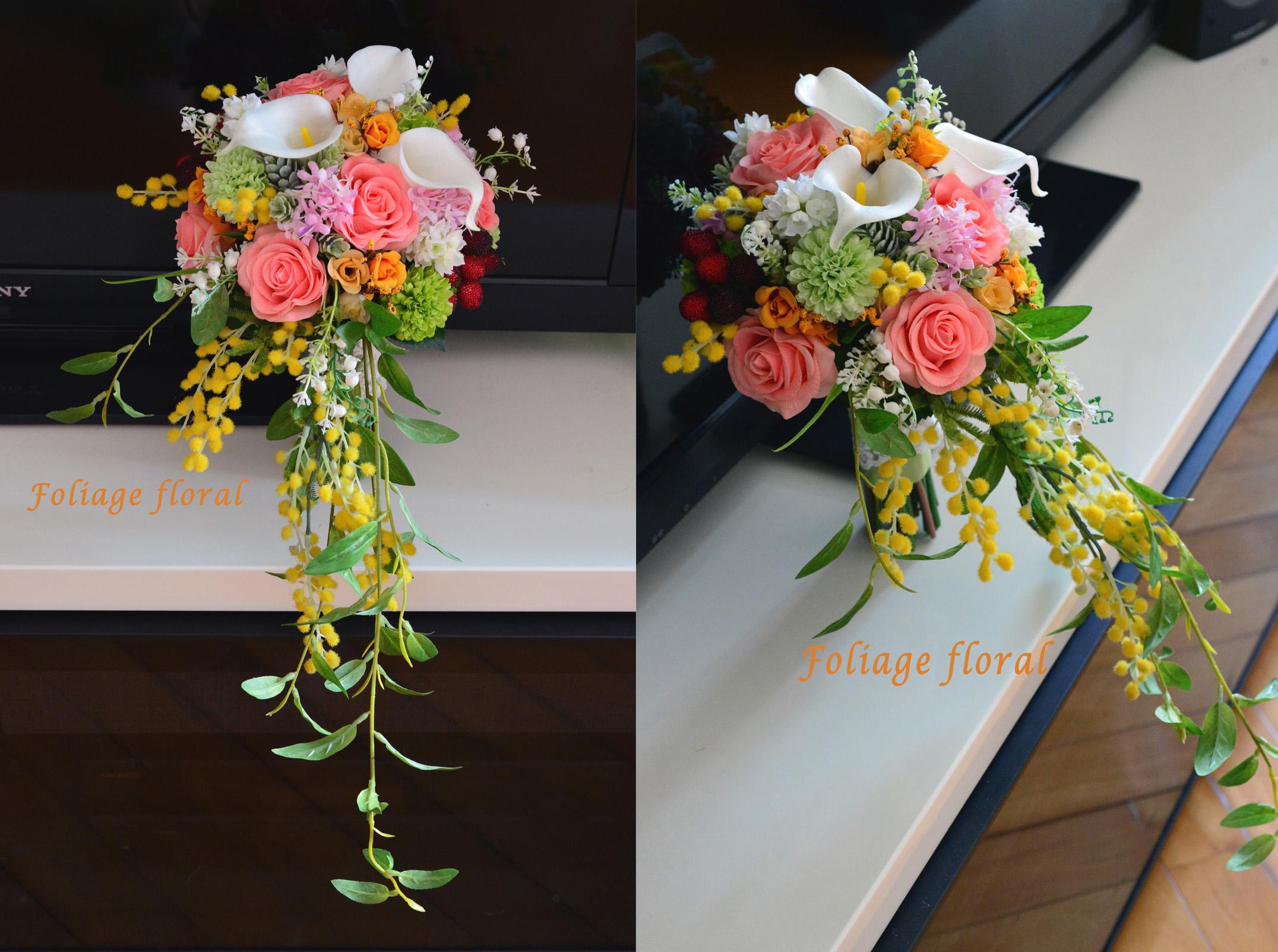 橙黃及香檳色系列_絲花球22