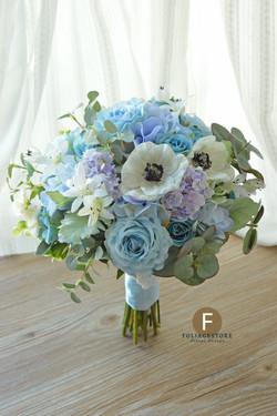 藍色系列_絲花球44