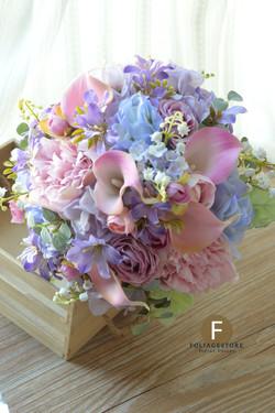紫色系列_絲花球91