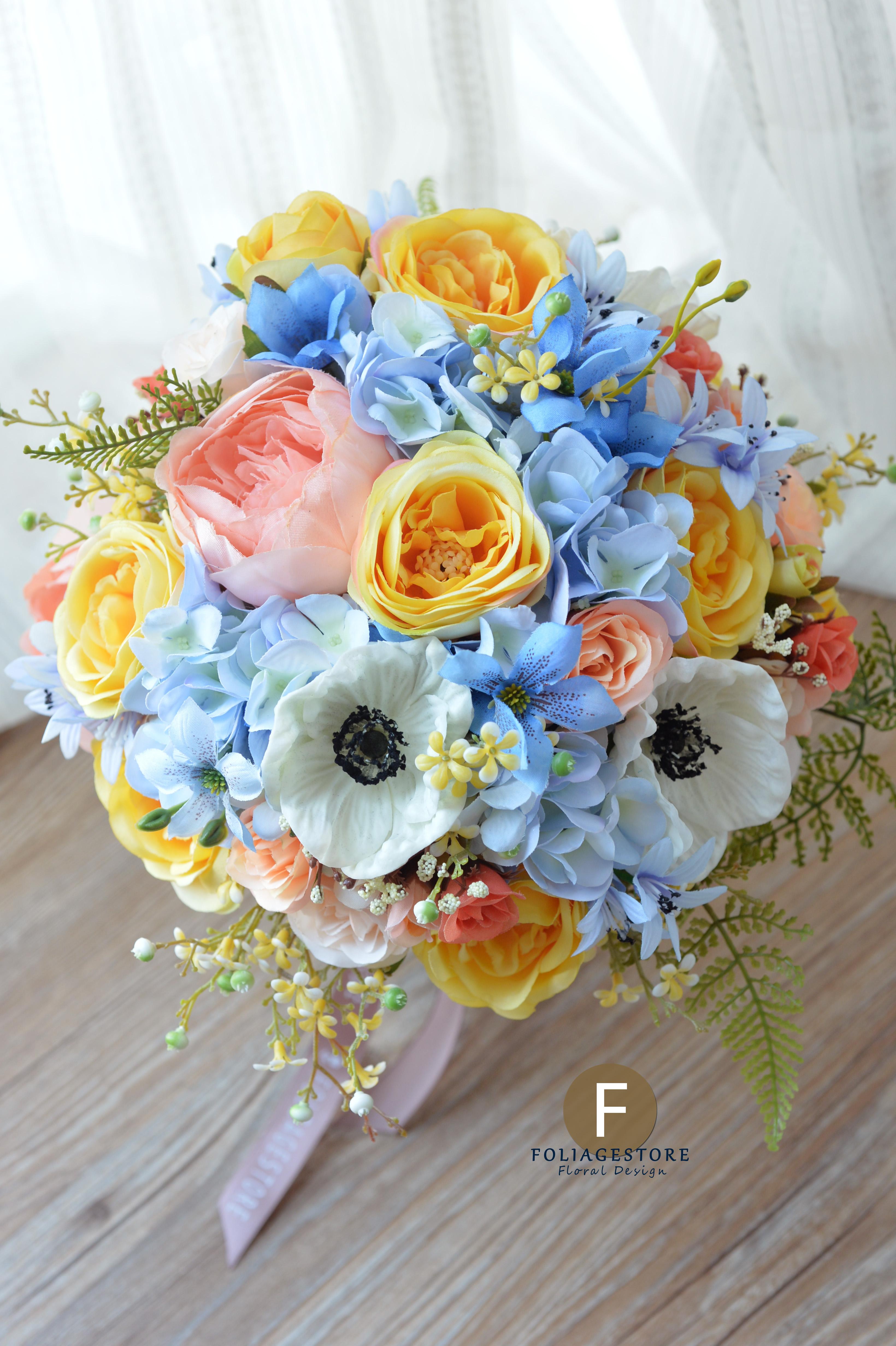 藍色系列_絲花球43