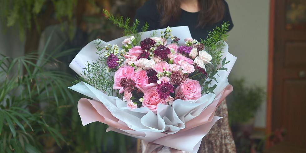 03.  Fresh Gift Bouquet  圓形鮮花束班