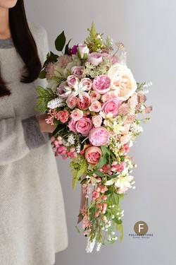 粉色系列_絲花球160
