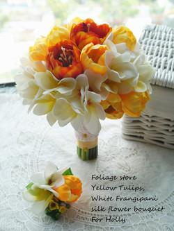 橙黃及香檳色系列_絲花球31