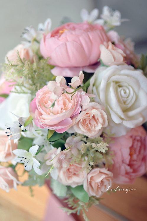 牡丹庭園玫瑰絲花球 - Creamy Pink 系列