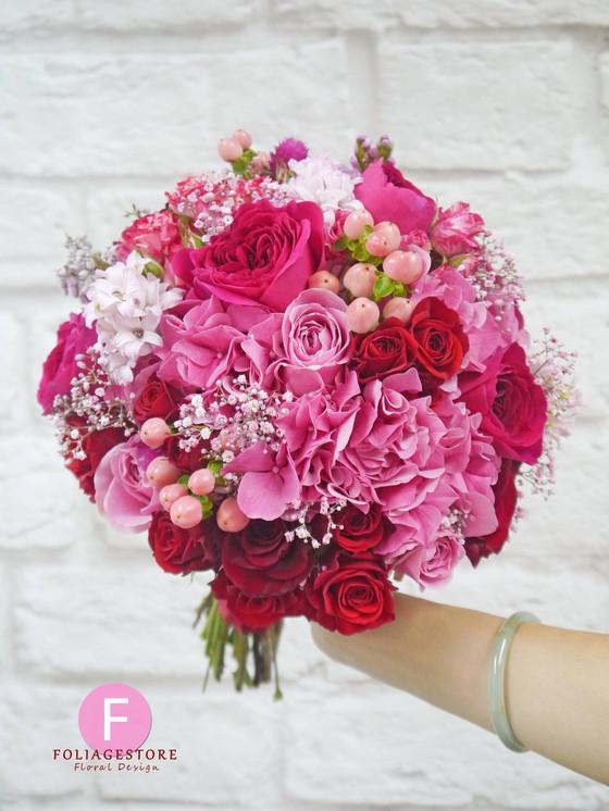 Garden Rose Bouquet 庭園玫瑰鮮花球