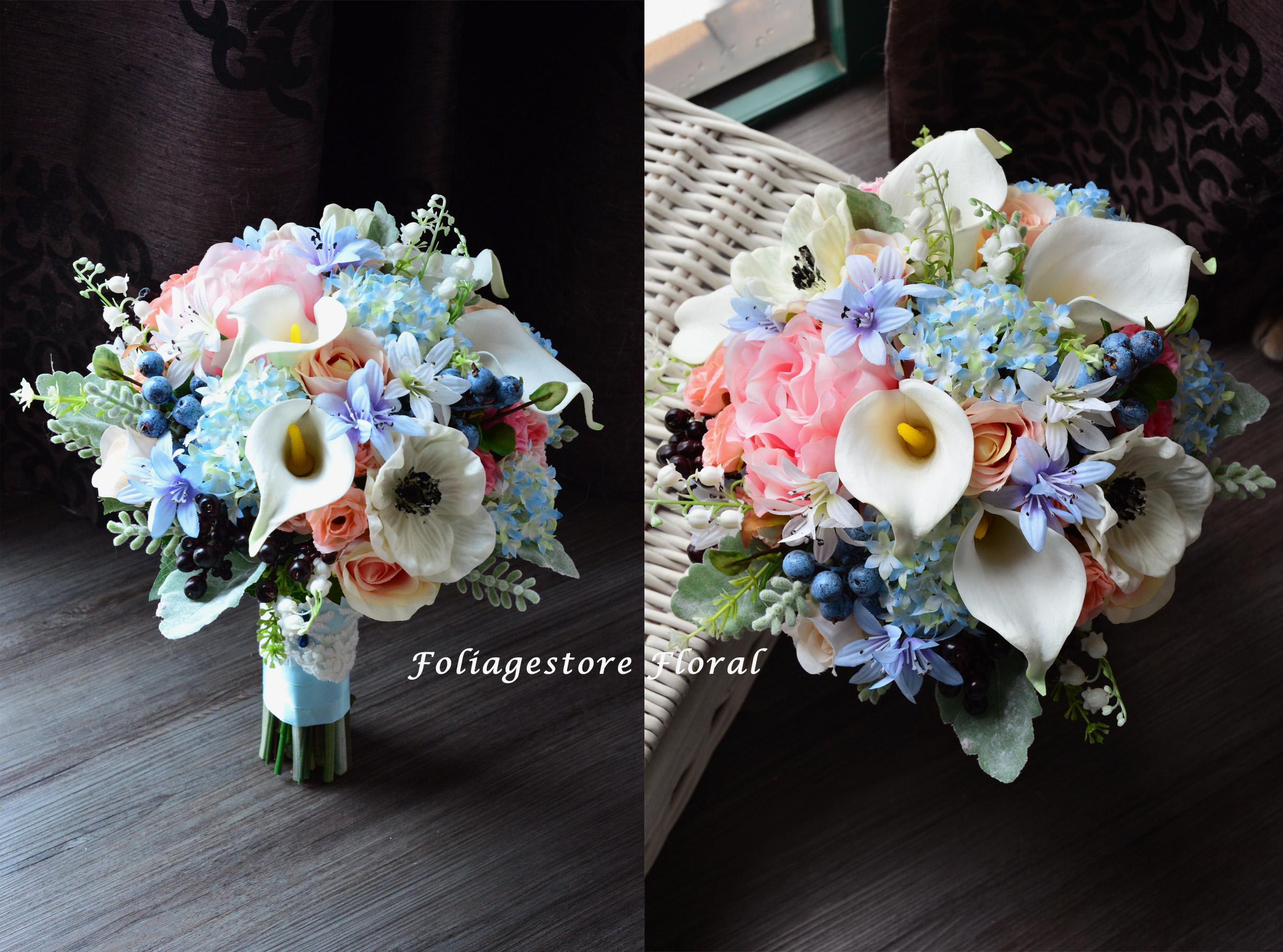 藍色系列_絲花球12