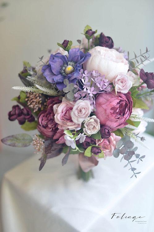"""蒙羅麗莎牡丹絲花球 -  Violet Autumn 9"""""""