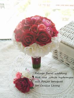 紅色系列_絲花球32
