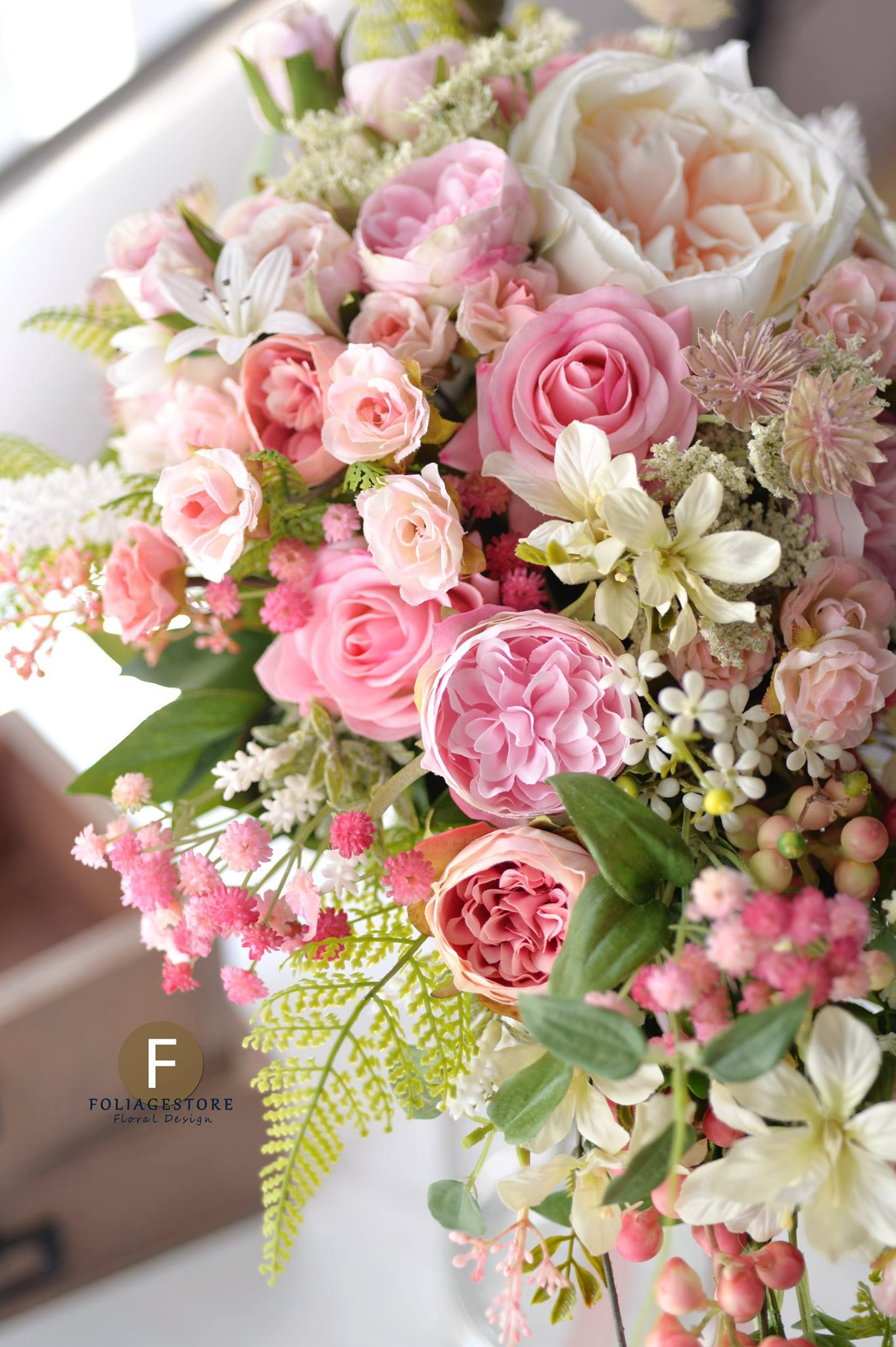 粉色系列_絲花球158