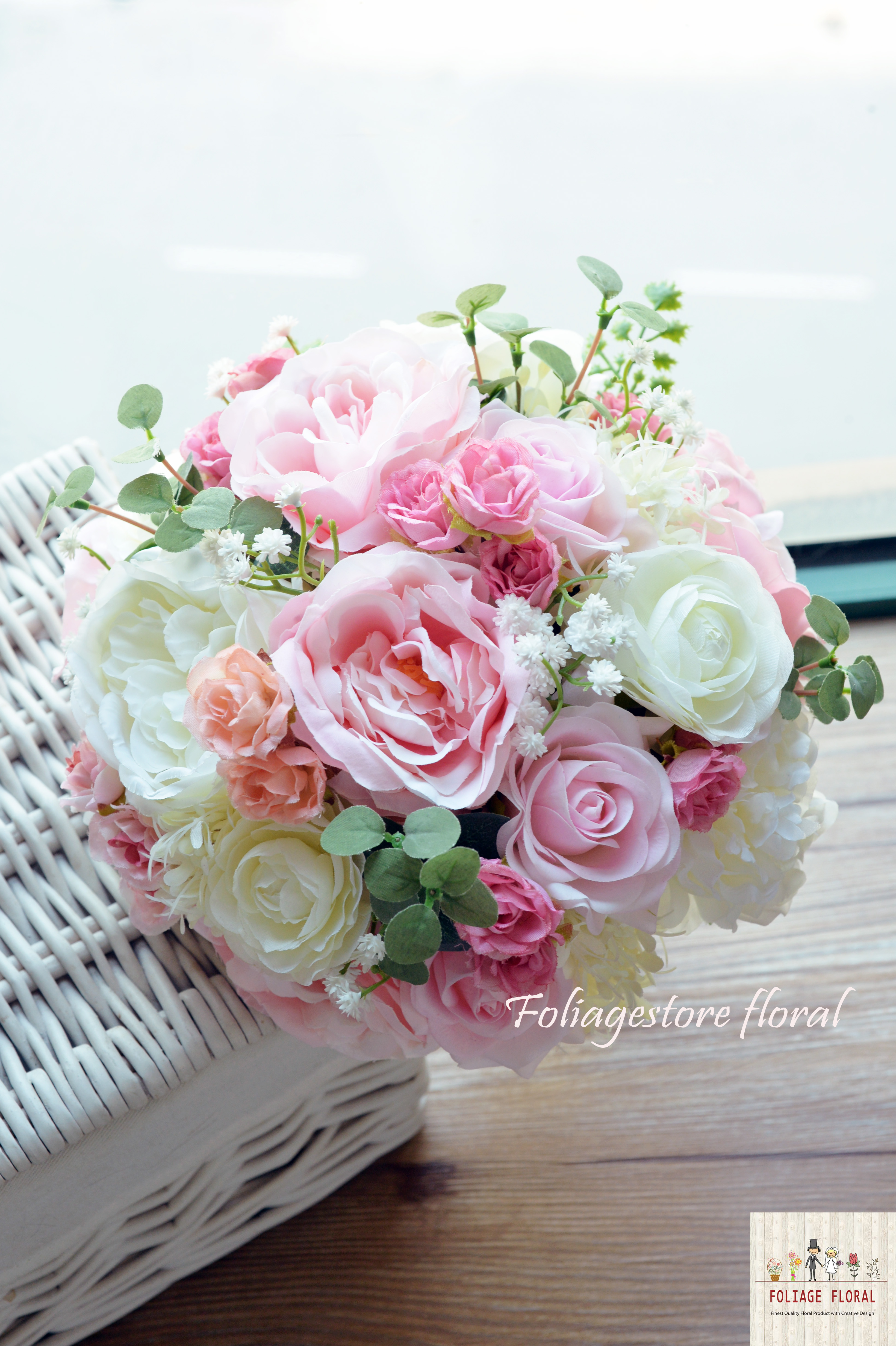 粉色系列_絲花球154