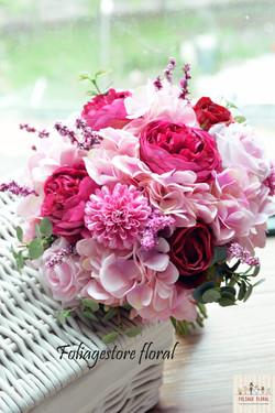 粉色系列_絲花球016