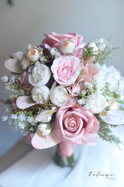 """蒙羅麗莎玫瑰絲花球 -  Dusty Pink 系列 9"""""""