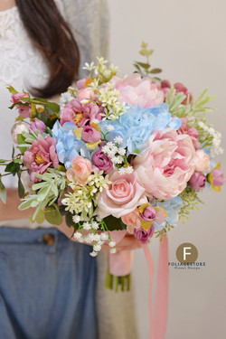 粉色系列_絲花球161