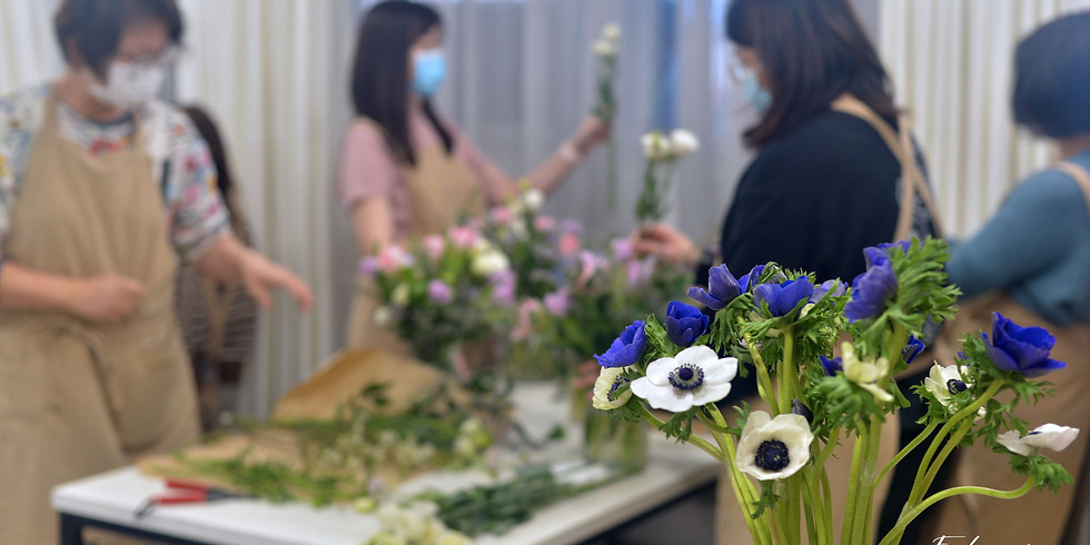 """花藝師基礎""""體驗""""課 - 喜愛接觸花卉的朋友 4月課"""
