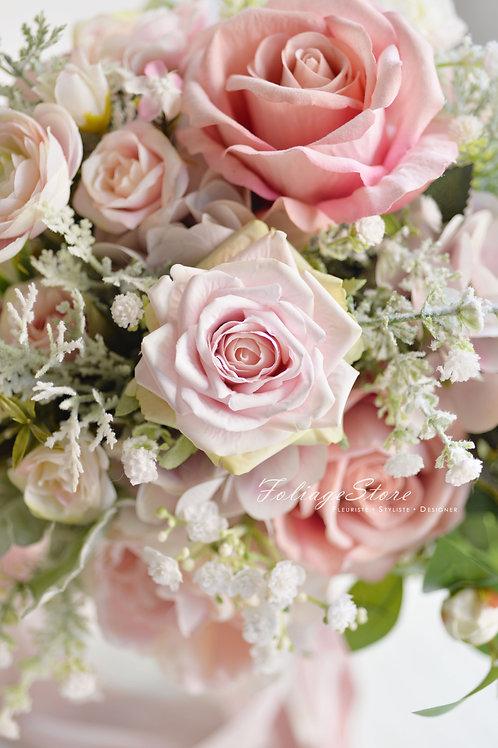 庭園大玫瑰絲花球 - 淡粉 X 米白系列