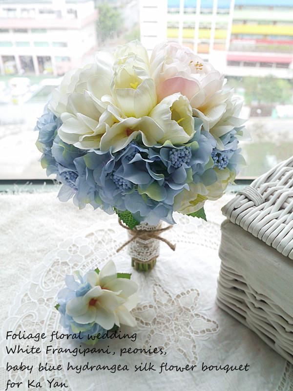 藍色系列_絲花球20