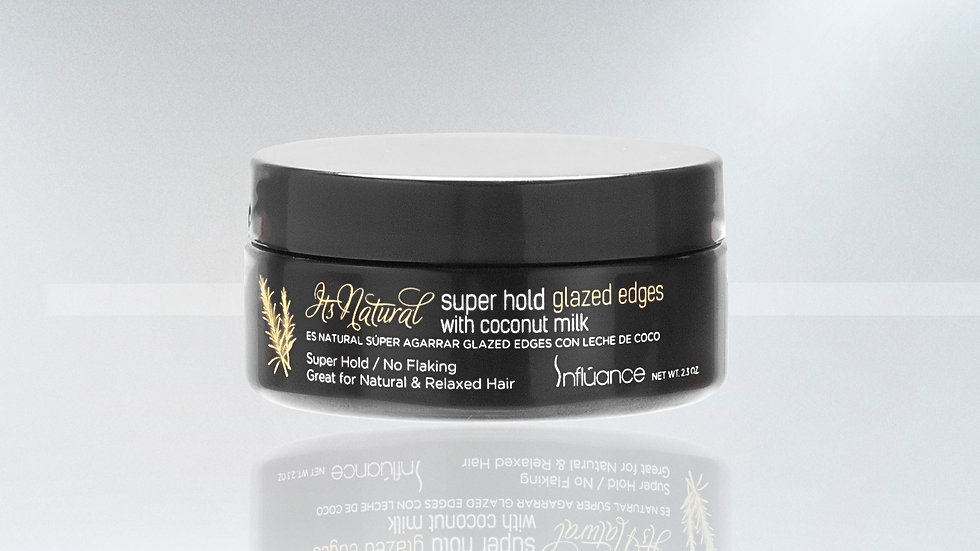 Influance It's Natural Coconut Milk Super Hold Glazed Edges 2.3 oz.